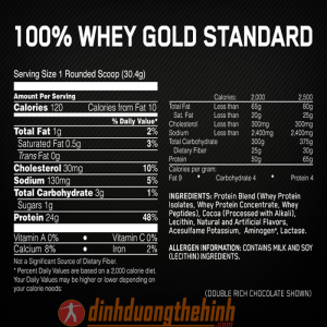 thanh phan dinh duong whey gold